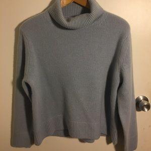 Blue-grey Wilfred Women's Mock-neck Sweater🦋